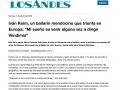 Interview Diario Los Andes (Argentine)