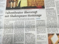 Shakespeare und The Queen - WZ Wuppertal Zeitung (Germany)